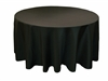 132 in. round black tablecloth