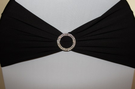 New wide black band with optional round diamond brooch