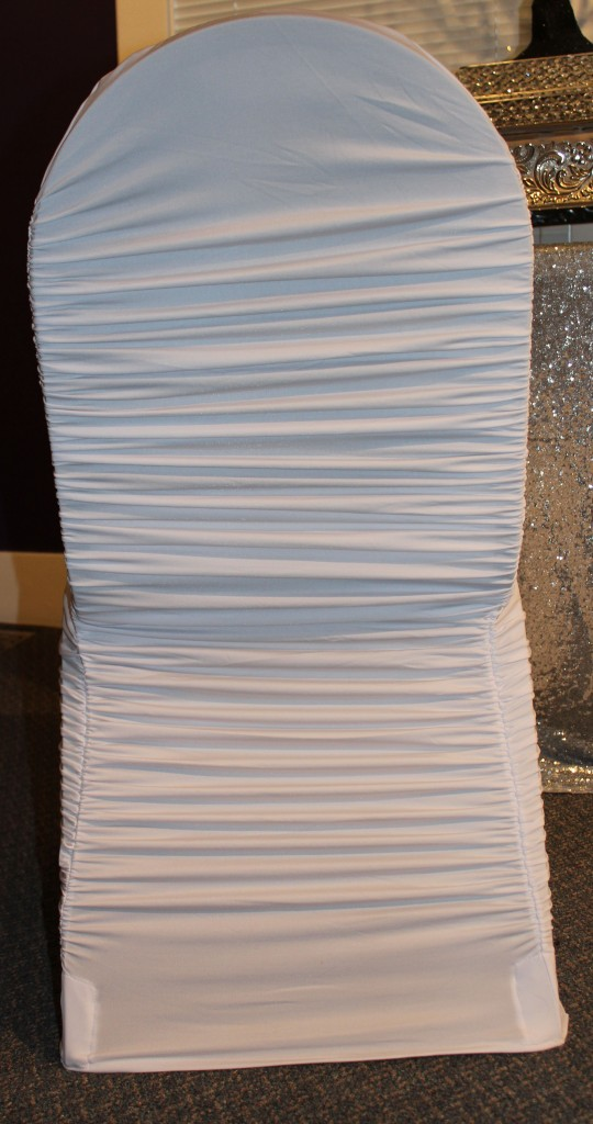 white ruched chair cover2